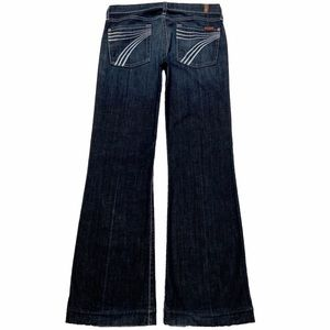 7 For All Mankind Dojo 28X31.5 Flare Blue Jeans